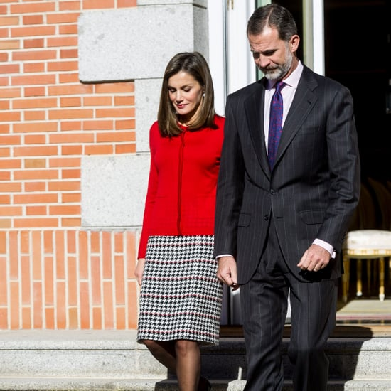 Queen Letizia Hugo Boss Plaid Skirt