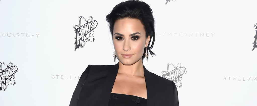 Demi Lovato Shows Off Her Toned Legs in an Edgy LBD