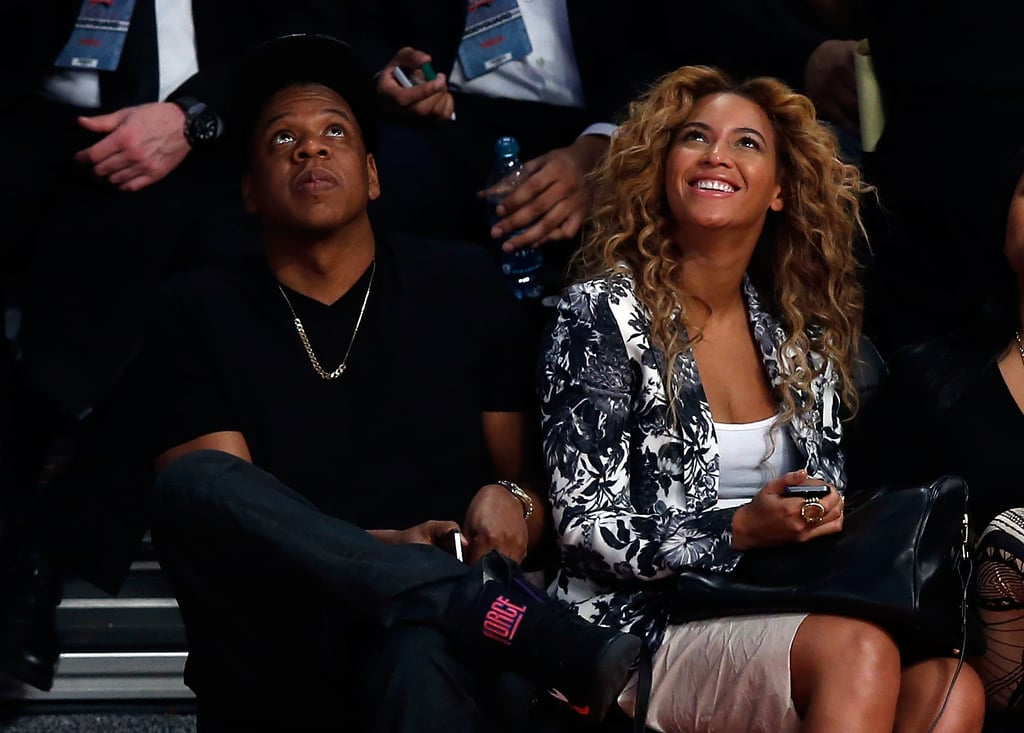 Beyoncé Knowles and Jay-Z were in Houston last night to attend the NBA All-Star Game. They were treated to opening performances from John Legend and Ne-Yo, as well as a later set by their pal Alicia Keys, before going on to watch the West beat the East with the help of LA Lakers player Kobe Bryant. The loss was a disappointment to the Miami Heat's LeBron James, who kicked off the fun weekend at Saturday's Two Kings dinner with Jay-Z and Beyoncé. The annual Two Kings event, which typically takes place over the All-Star Game weekend, was extra-special for Jay-Z this year. It's the first-ever season for the Brooklyn Nets, of which he is a part owner. There was more fun in store for the couple too — Saturday brought the debut of Beyoncé's HBO documentary, Life Is But a Dream.
