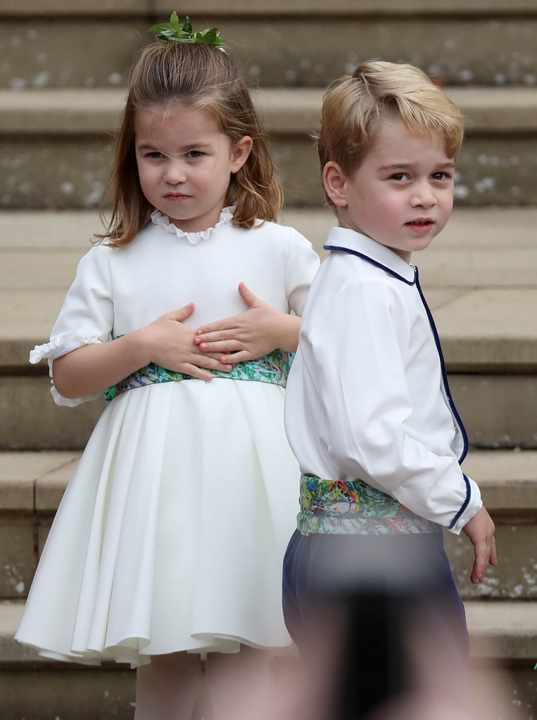 George and Charlotte at Eugenie's Wedding Pictures