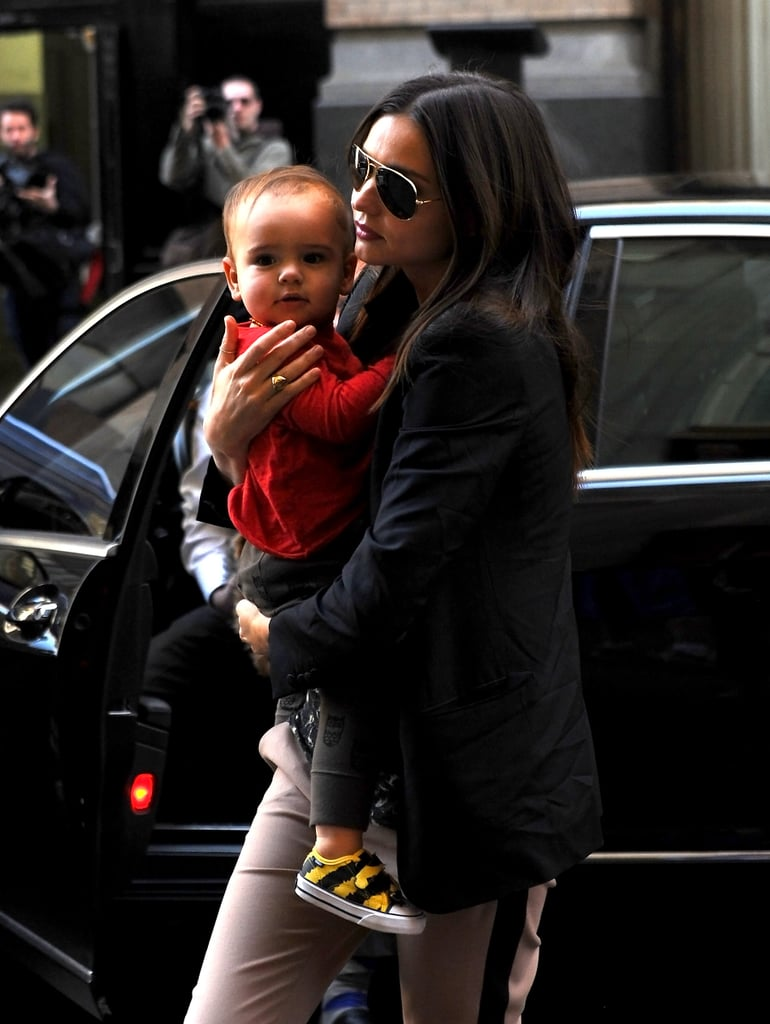 Miranda carried Flynn in NYC in March 2012.