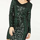 Vero Moda Green Sequin Shift Dress