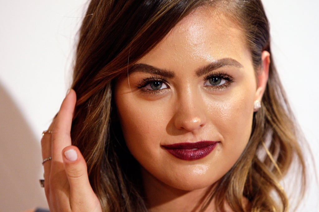 This deep plum pout packs a punch at the Crown's Autumn Ladies Lunch in March 2015.
