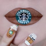 We Thought This Starbucks Logo Lip Art Was Wild, and Then We Noticed the Frappuccino Nail