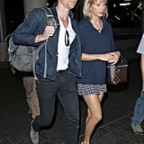 """June 25-July 4: Taylor and Tom embarked on their world tour of love, making stops in Rome, the UK, and back to the place where it all began, Rhode Island.  July 8: Calvin released a new breakup medley titled """"Olé."""" While the song is sung by John Newman, the DJ wrote and produced the hit, which features lyrics like, """"I see online that you've begun to be a good girl and take trips with your boyfriend, being attentive / Continue to pretend."""" Fans began to speculate that it was about Taylor. However, a source told People that the song was written months ago before Taylor and Tom's new romance."""