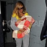 Beyonce Knowles held daughter Blue Carter tight.