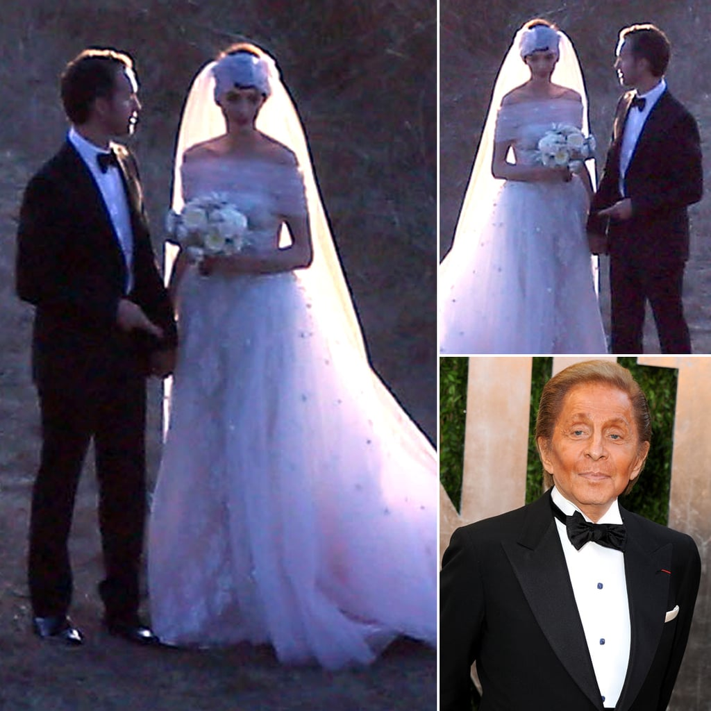 Anne Hathaway and Valentino Garavani