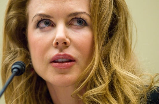 Nicole Kidman speaks during ''The International Violence Against Women:stories and solutions'' hearing in D.C