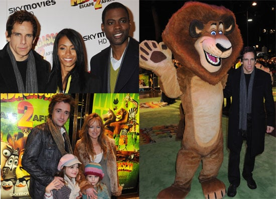 Photos of Ben Stiller, Jada Pinkett Smith and Chris Rock at the London UK Madagascar: Escape 2 Africa movie premiere