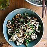 Vegan: Roasted Cauliflower, Chickpea, and Quinoa Salad With Jalapeño-Lime Dressing