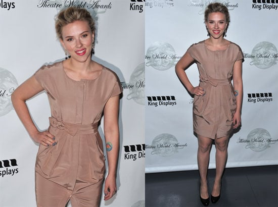 Pictures of Scarlett Johansson at the Annual Theatre World Awards in NYC