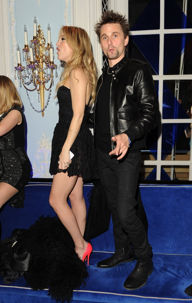 Kate Hudson danced on a banquette with Matthew Bellamy during a post-Brit Awards party.