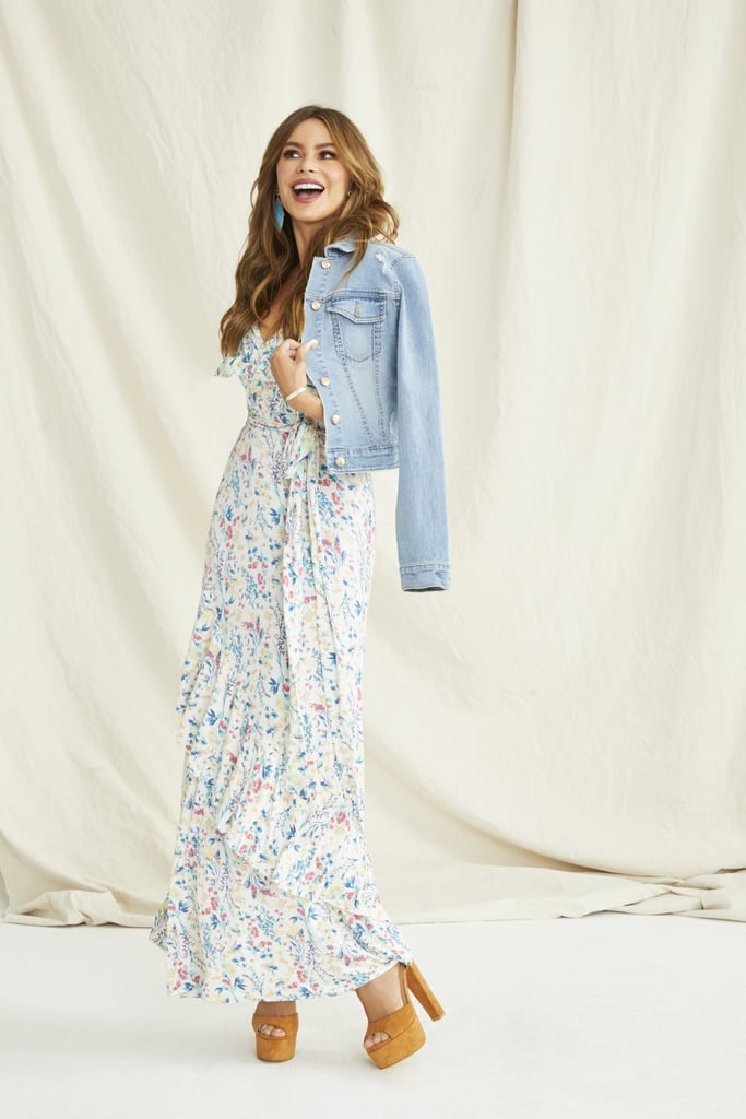 Sofia Jeans by Sofia Vergara Faux-Wrap Front Maxi Dress