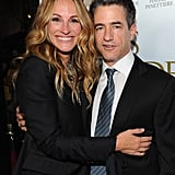 She posed with Dermot Mulroney at the October 2011 premiere of Fireflies in the Garden in LA.