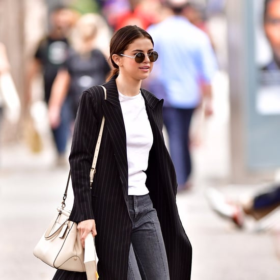 Selena Gomez Wearing Black Tod's Loafers