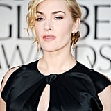 Double Nominee Kate Winslet Stuns on the Globes Red Carpet