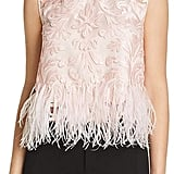 Elie Tahari Dakotra Feather Trimmed Blouse