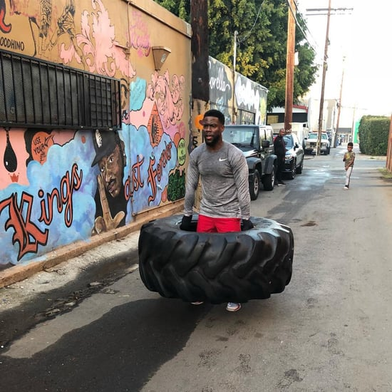 Kevin Hart Carrying Tire Workout Instagram January 2018