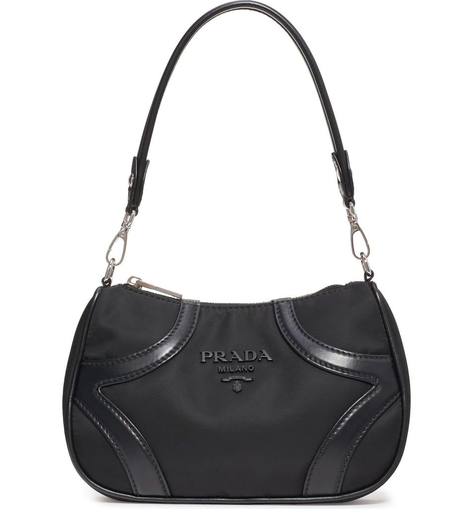 Prada Nylon & Leather Baguette Bag