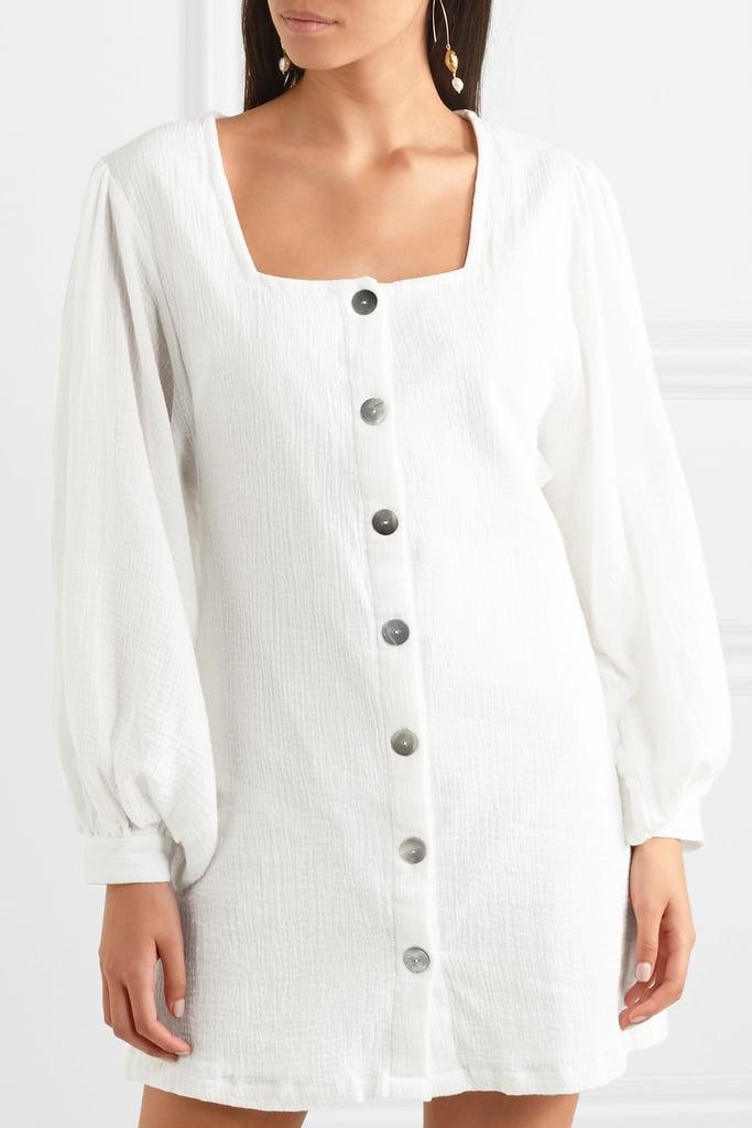 She Made Me Kali Crinkled-Cotton Mini Dress ($302.30)
