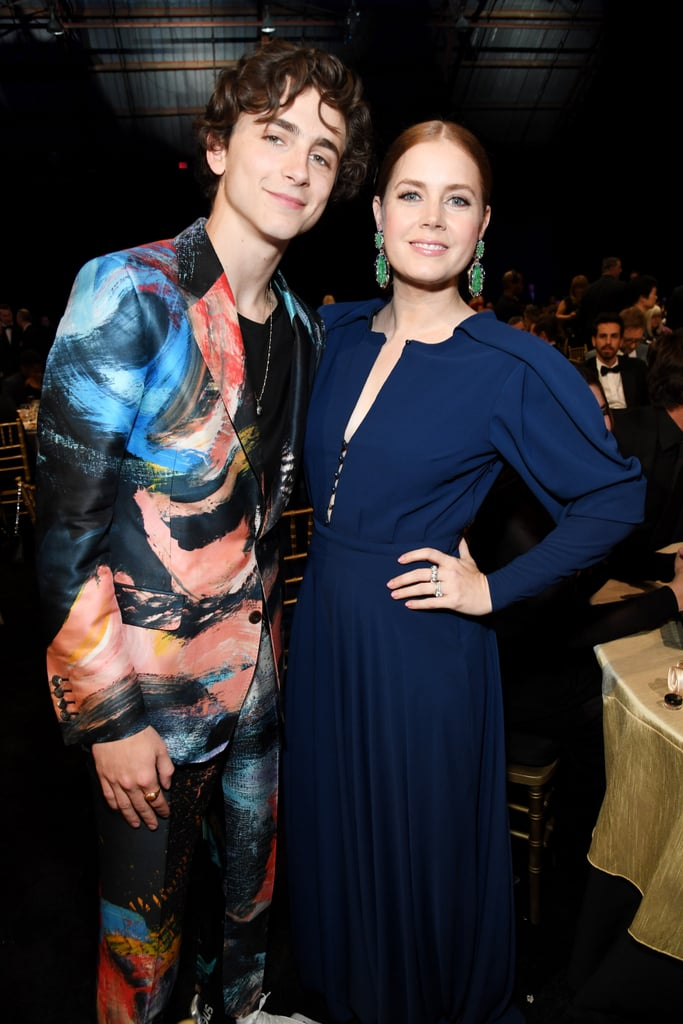 Pictured: Timothe Chalamet and Amy Adams