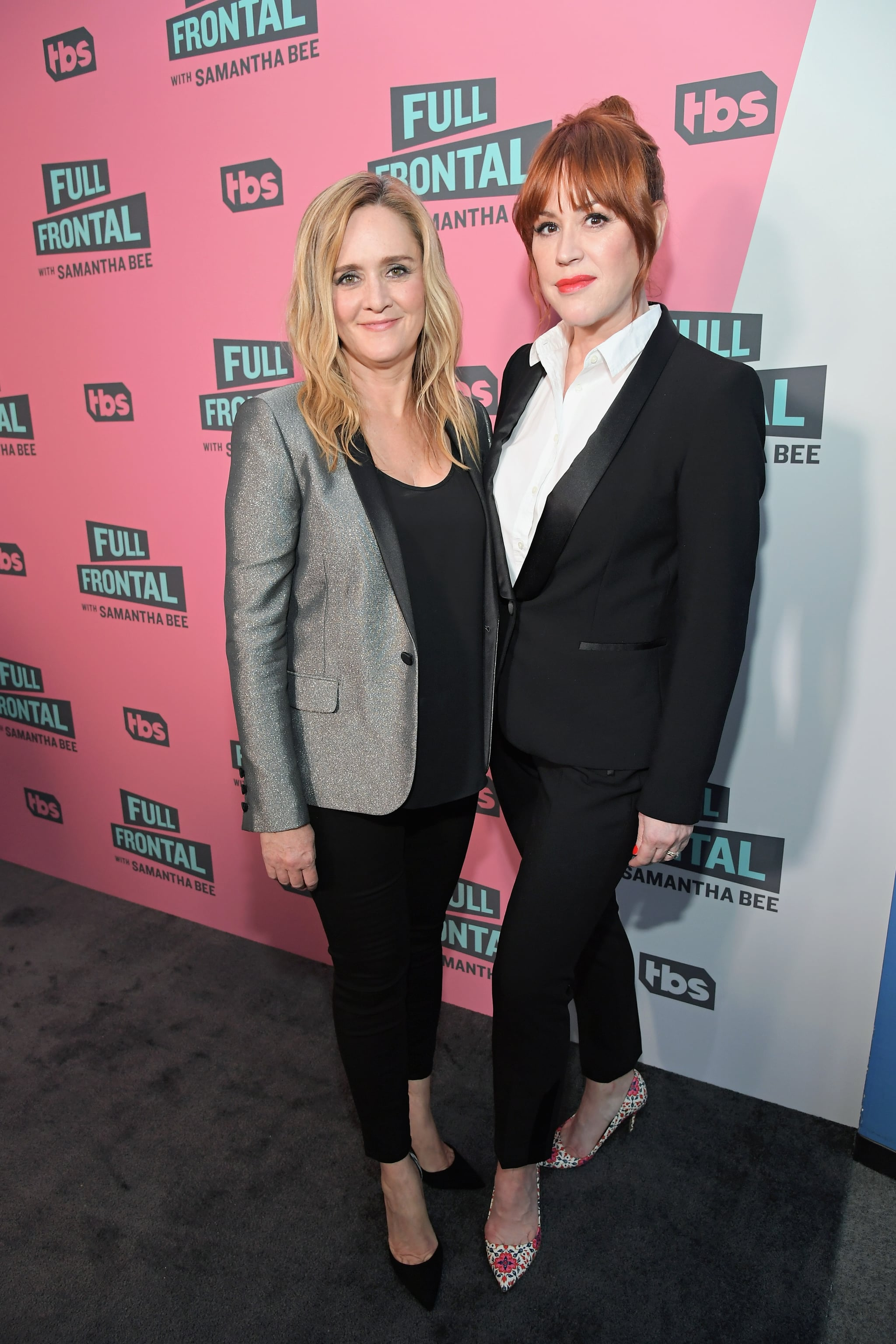 BEVERLY HILLS, CA - MAY 24:  Executive Producer Samantha Bee (L) and actor Molly Ringwald attend 'Full Frontal with Samantha Bee' FYC Event Los Angeles at The WGA Theater on May 24, 2018 in Beverly Hills, California.  (Photo by Charley Gallay/Getty Images for TBS/Turner)