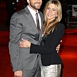 She and then-boyfriend Gerard Butler stayed close on the red carpet as they promoted their film The Bounty Hunter in London back in March 2010.