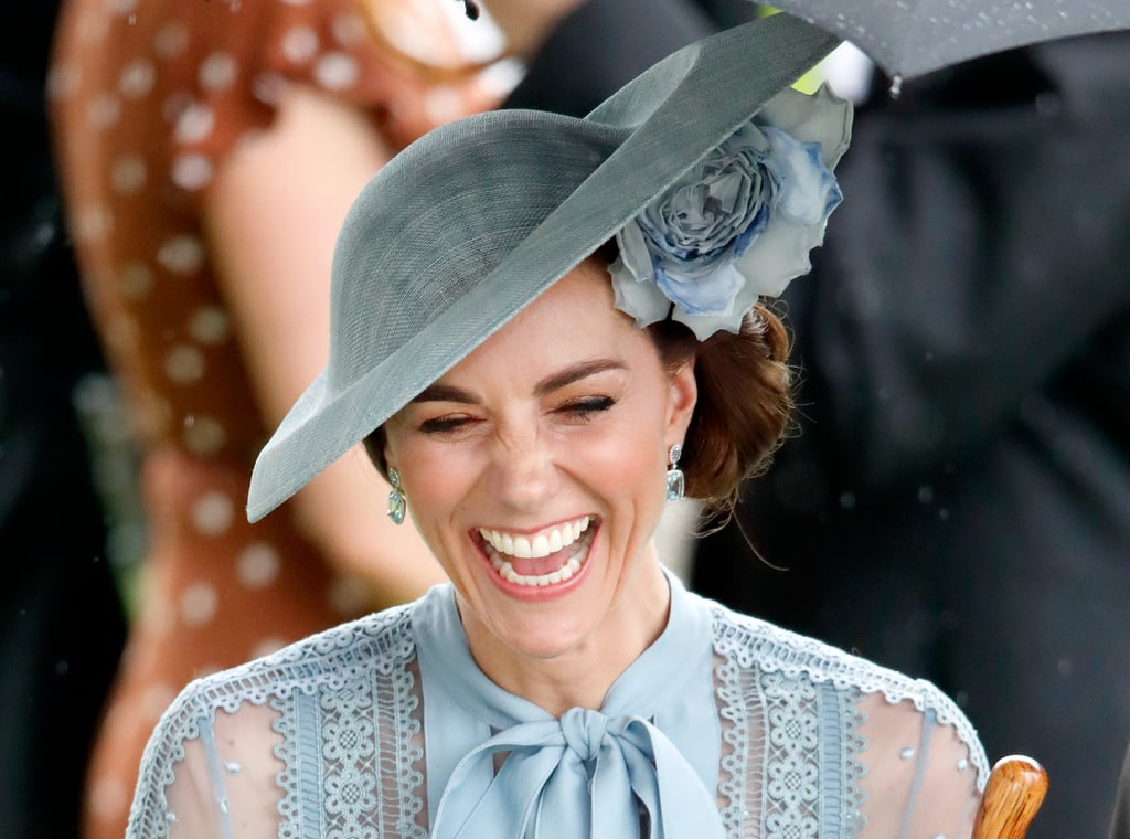 Kate Middleton knows how to work hard, but she also knows how to have fun! When the Duchess of Cambridge isn't sharing a sweet moment with kids or playing sports during official royal appearances, she can usually be spotted breaking out into laughter. And it's not just a half-smile pity laugh either; it's a show-every-single-one-of-your-teeth laugh. Honestly, her laughing face is so good, it's practically impossible not to crack a smile yourself. Based on these photos alone, we're pretty sure she never heard a joke she didn't like. Keep reading for all the times Kate caught a case of the giggles, and then look at the rest of the royal family's best laughing faces.       Related:                                                                                                           Kate Middleton's Life Before Joining the Royal Family, in Pictures
