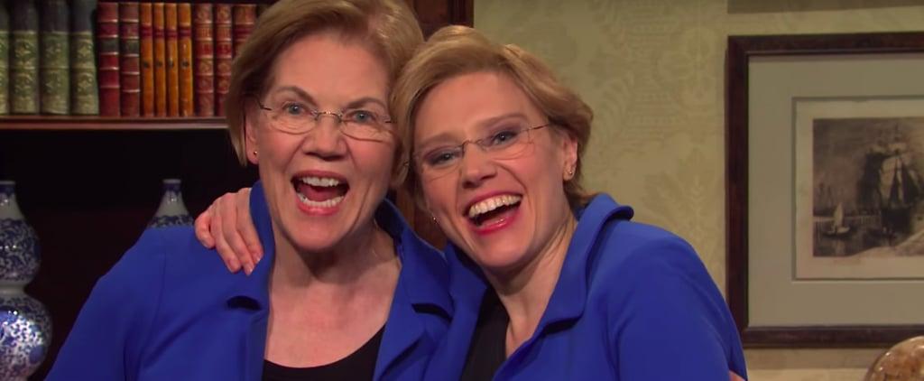 SNL's Ingraham Angle Cold Open With Elizabeth Warren | Video