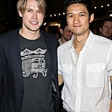 Glee costars Chord Overstreet and Harry Shum Jr. attended the Spring Break: Destination Education fundraiser party.