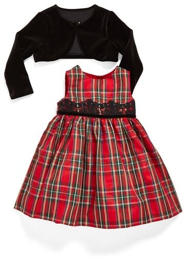 Pippa & Julie Sleeveless Tartan Dress & Jacket