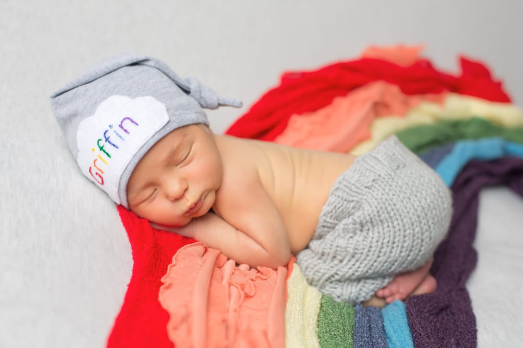 Personalized Rainbow Baby Coming Home Hat