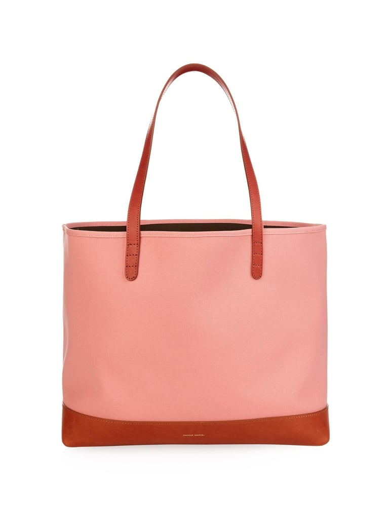 Mansur Gavriel Large Canvas and Leather Tote ($425)