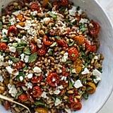 Tomato Farro Breakfast Salad With Egg
