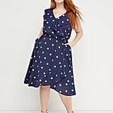 Beauticurve Polka-Dot Ruffle Midi Dress