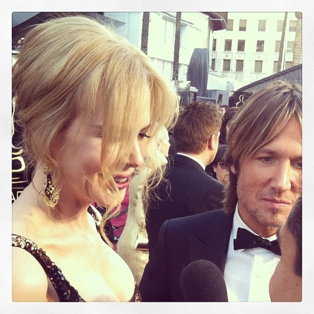 Nicole Kidman and Keith Urban got interviewed on the red carpet. Source: Instagram user marcmalkin