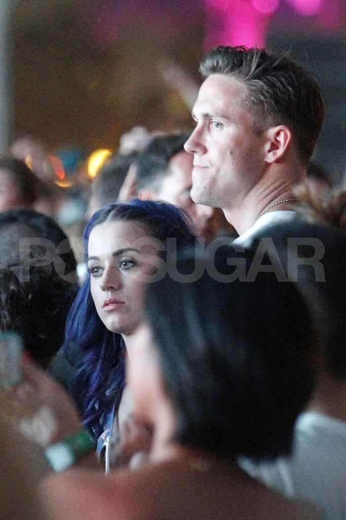 Katy Perry stayed close to her new man during the second weekend of Coachella.