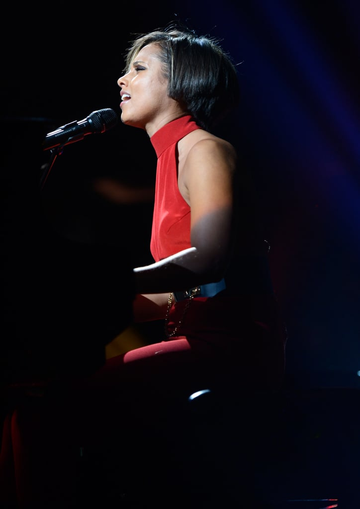 Alicia Keys performed at the concert.