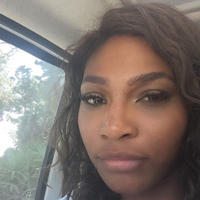 """Serena Williams was """"on the road again."""""""