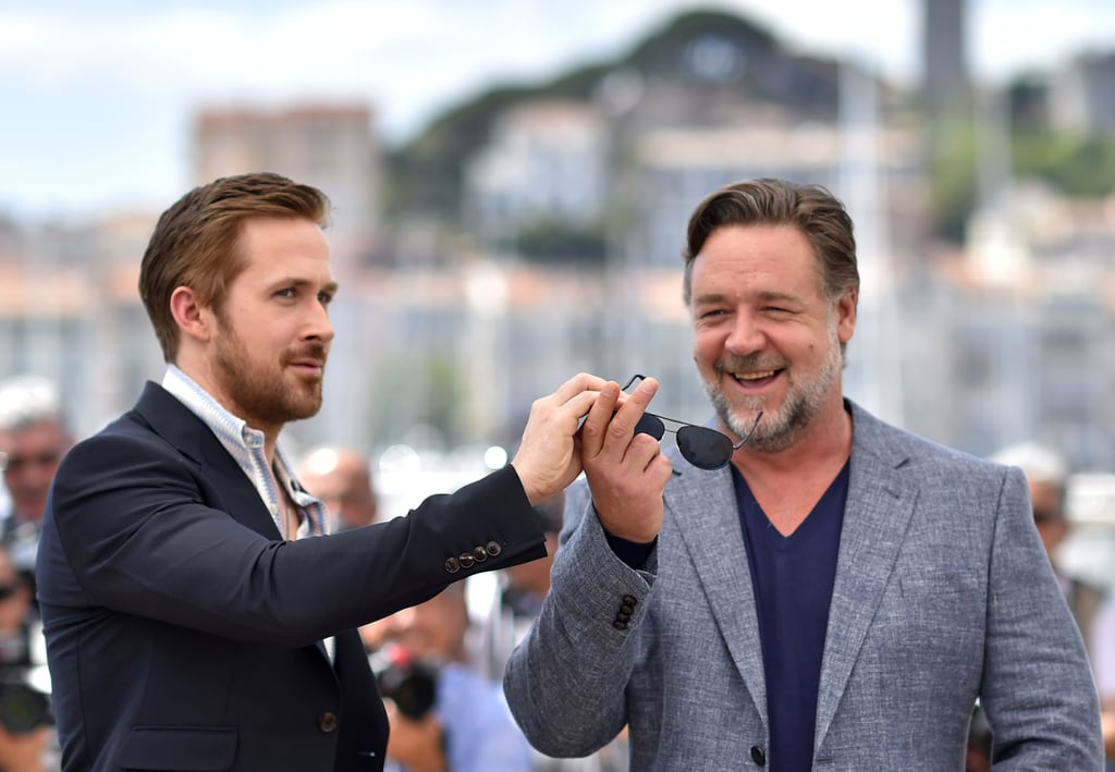 The Cannes Film Festival is well underway, and celebrities have been pouring into the South of France for all the fun. So far, we've seen Hollywood heavyweights like George Clooney, Julia Roberts, Susan Sarandon, and Naomi Watts on the red carpet and witnessed unfiltered moments between Blake Lively and Kristen Stewart during a sunny-day photo call. In addition to all the glamorous arrivals and carefully placed poses, we've also seen some hilarious and unexpected candid interactions between stars — which we've rounded up here for your enjoyment.