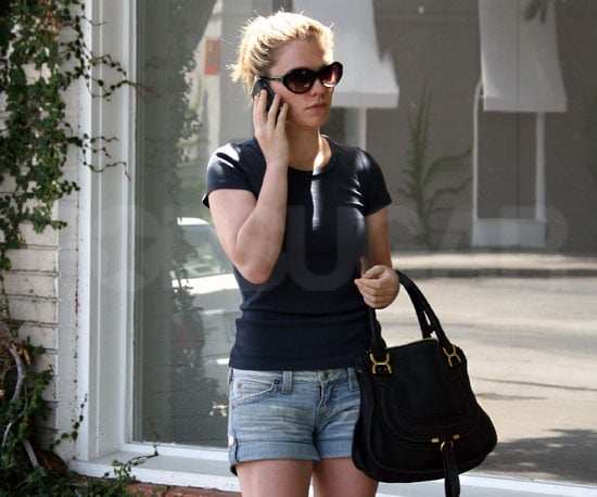 Slide Picture of Anna Paquin Chatting on Her Phone in LA