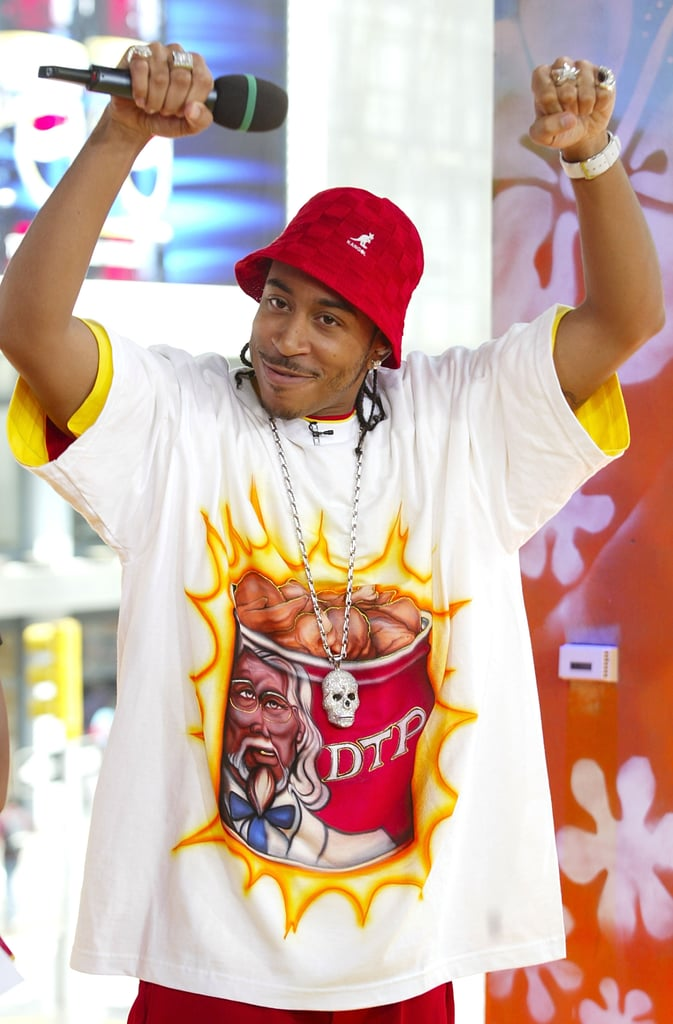Ludacris stopped by MTV Studios for TRL in 2003.