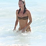 Kate Moss enjoyed the waves.