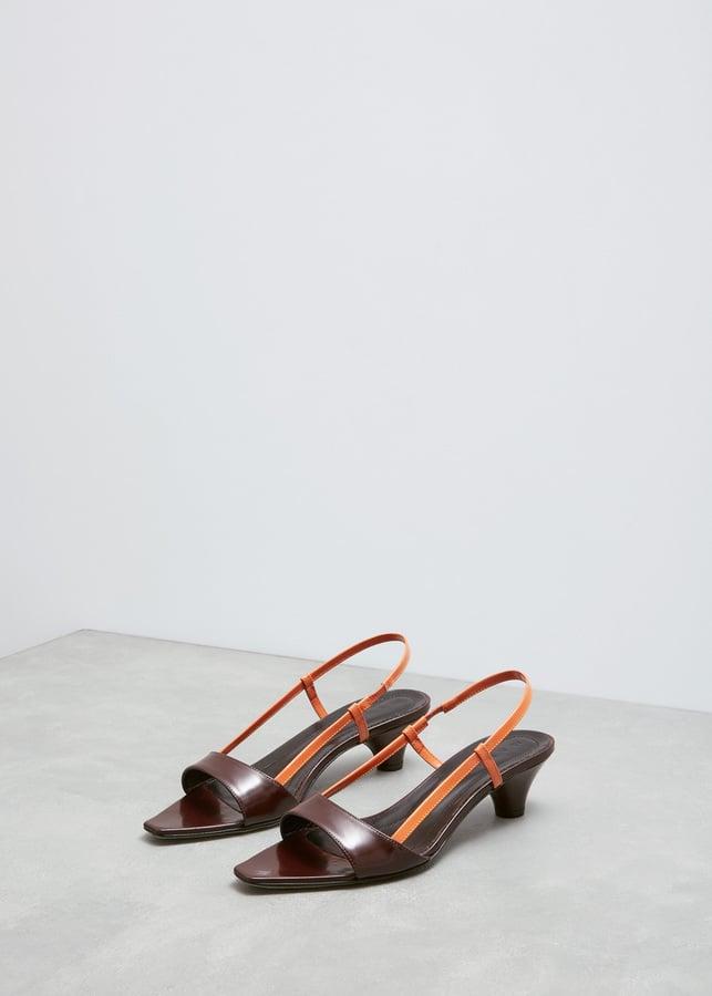 Marni Burgundy and Apricot Colorblock Sandal