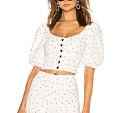 LPA Polka Dot Button Up Top ($194.34)