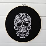 Celebrate the spooky holiday with this chic lace-skull embroidery ($35), which screams high-end!
