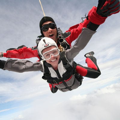 Kate Bosworth Sky Dives