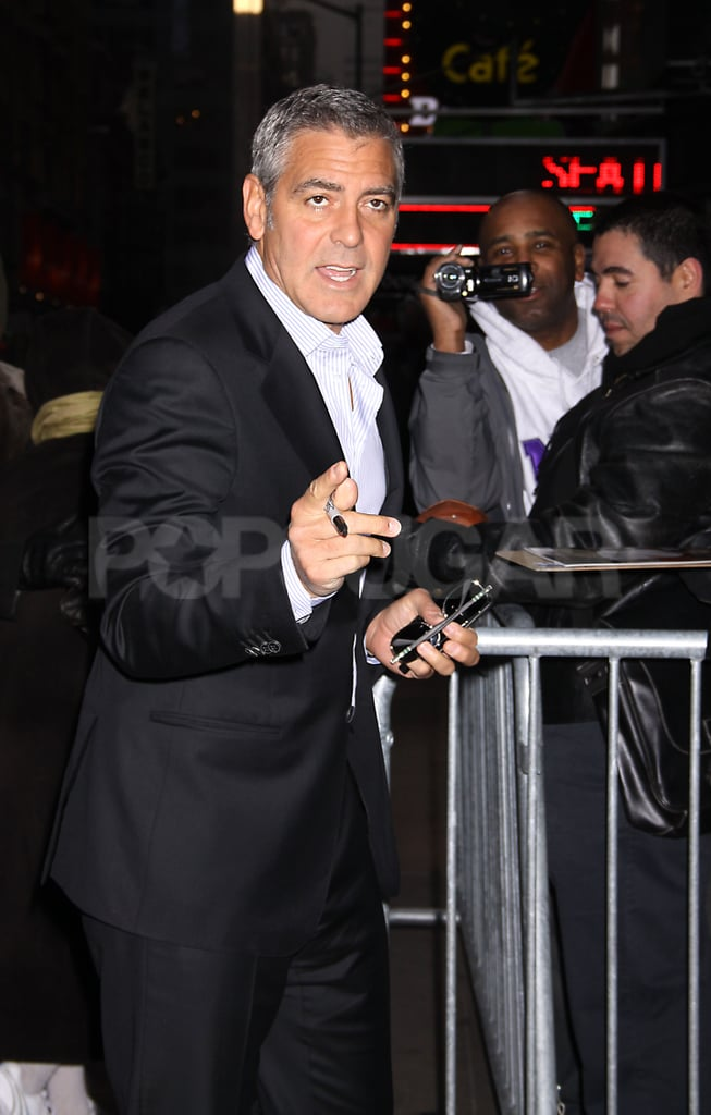 George Clooney had an early call time for NYC's Good Morning America.