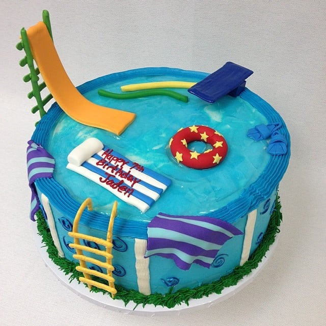 Swimming Pool Cake Ideas swimming pool cake Pool Party Cakes Popsugar Moms