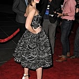 Emily Blunt showed off a different angle of her dress.